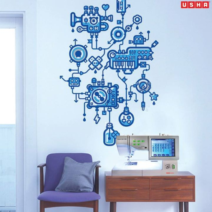 The Usha Janome embroidery Machines are equipped with the latest technology to help you create the most intricate designs with ease. http://goo.gl/hRAlXS