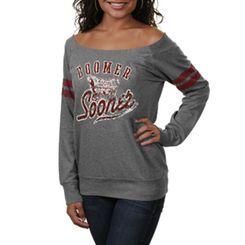 Oklahoma Sooners Women's Flash Dance Sweatshirt - Gray