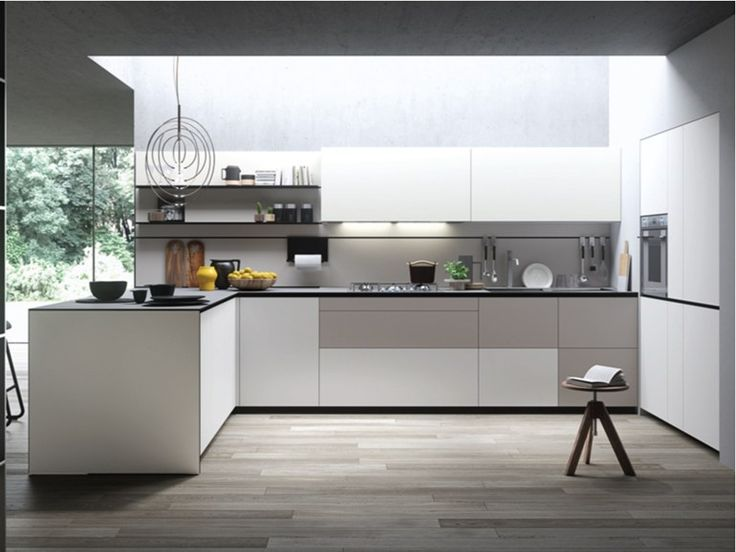 Cucina componibile con penisola FORMA MENTIS - ANGEL SKIN by VALCUCINE