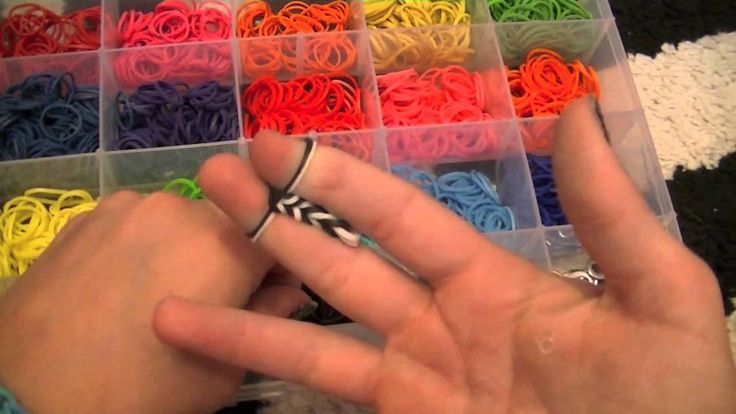 How to make a rainbow loom fishtail Without the loom