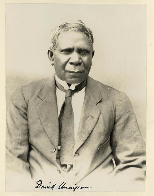 David Unaipon (1872–1967) the first Australian Aboriginal writer to have a book published in Australia, 1925.