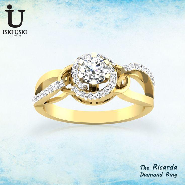 Choose diamond rings from IskiUski, where we offer diamond rings that make gorgeous diamond engagement rings and diamond wedding rings!!.  #DiamondRings #GoldRings #Rings #IskiUski