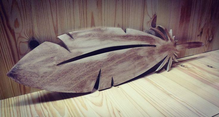 Pióro #wood #woodwork #decor #decorations #creative #garage #design #lot #creativegarage