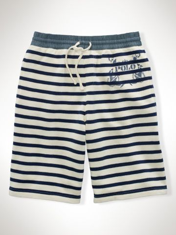 Striped Cotton Terry Short - Boys 8-20 Pants & Shorts - RalphLauren.com