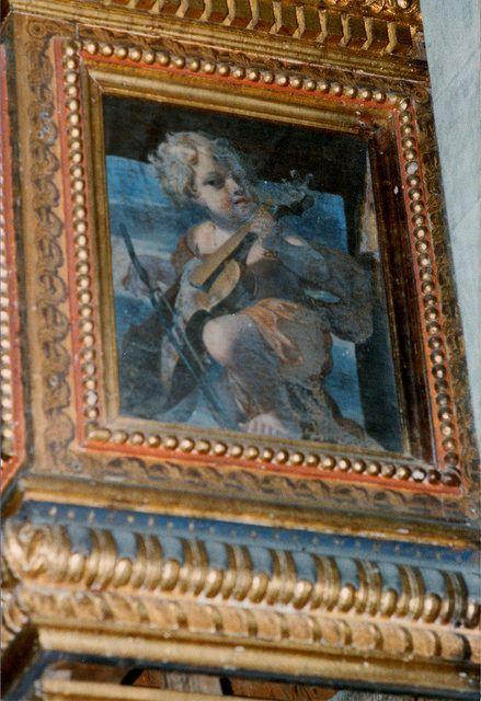 Arezzo, Toscana, Chiesa di Santa Maria in Gradi, organ gallery, detail