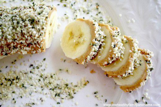 Raw Vegan Banana Hemp Seed Sushi Slices via @HealthyFamily