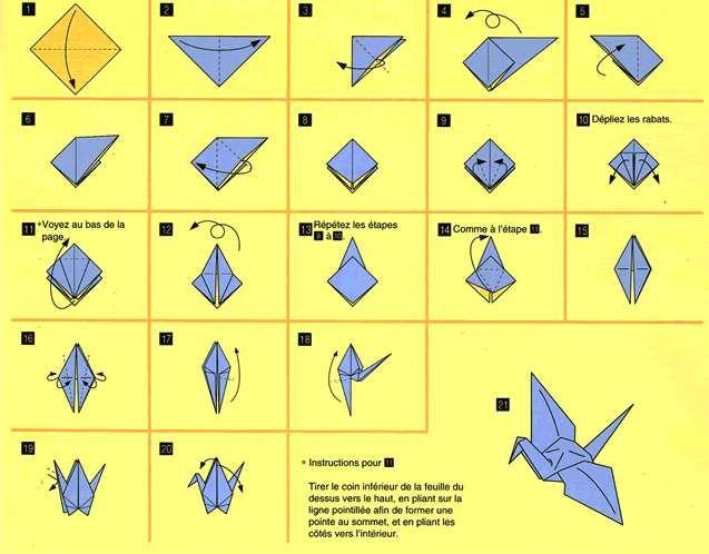 Origami per bambini - Gru con l'origami