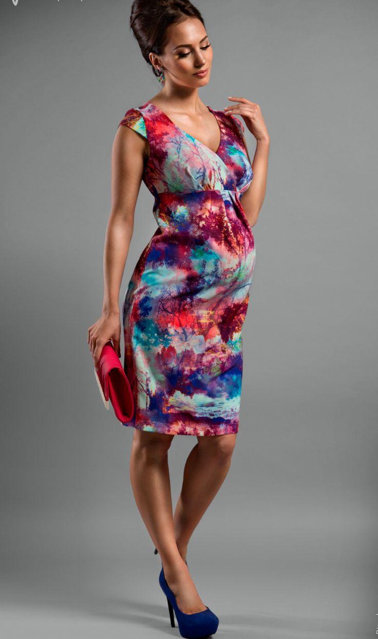 Rochia de maternitate Megan este o explozie de culori! #mamaboutique #babybump #maternitystyle