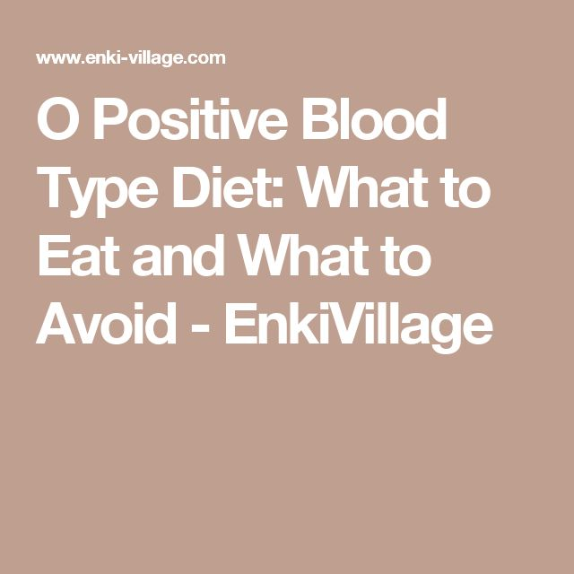 o positive diet list pdf