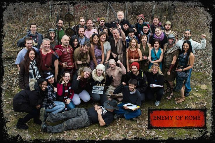 Cast and crew during the shooting of Enemy of Rome (pilot)