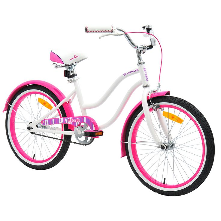 Toys R Us Bikes Girls : Cm airwalk cruiser bike white pink toysrus australia