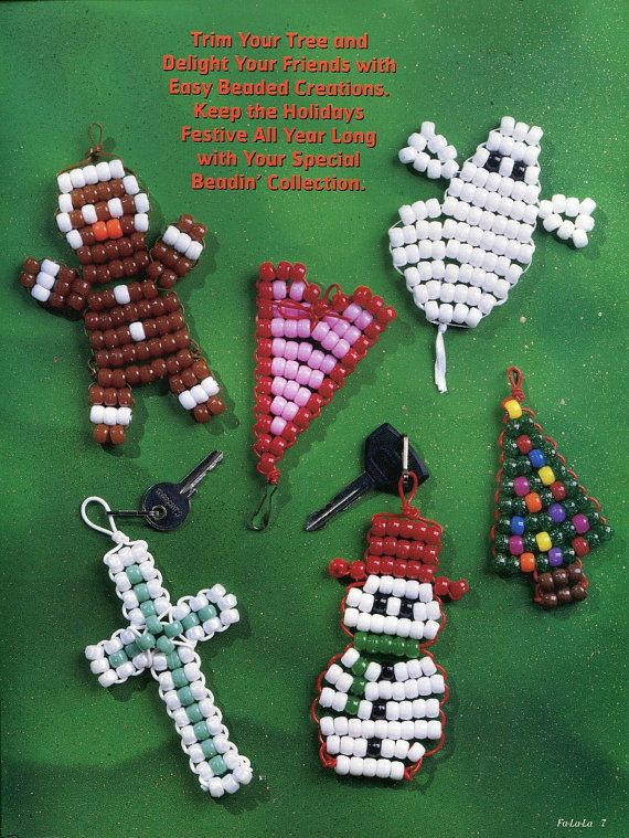 Beading easy with pony beads pattern craft book projects for Bead craft ideas for kids