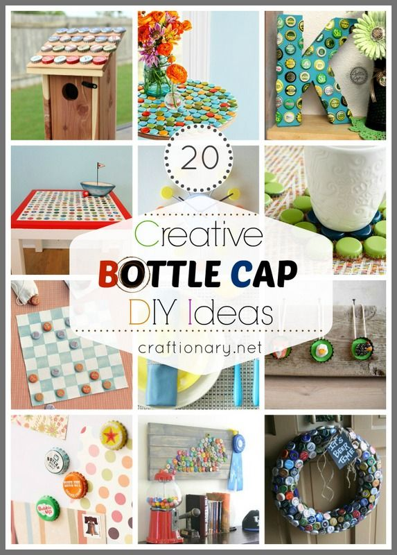 Lots of ideas for bottle cap projects all in one place 20 Creative Bottle Cap Ideas (Recycle Crafts)