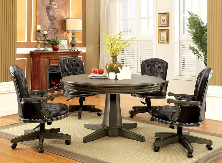 Yelena Gray 54 Round Game Room Dining Table