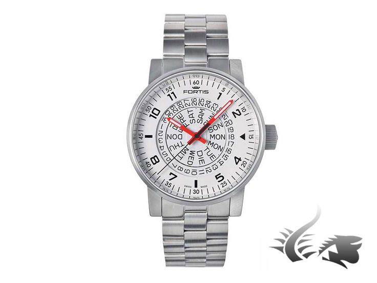 Fortis Spacematic Counterrotation Automatic Watch, ETA 2836-2, White,   Iguana Sell