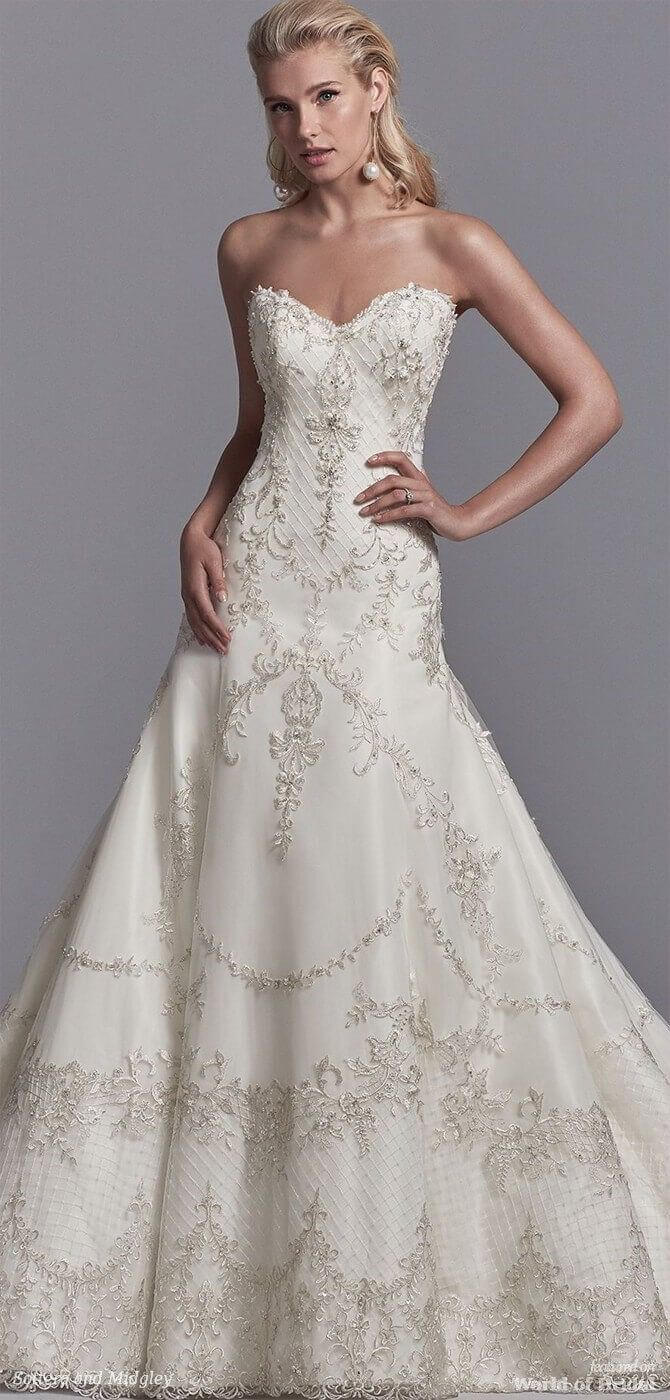Sottero and Midgley Spring 2018 A-line wedding gown