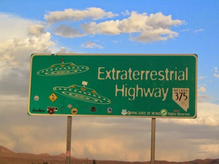 The Extraterrestrial Highway runs alongside Area 51 in Nevada.