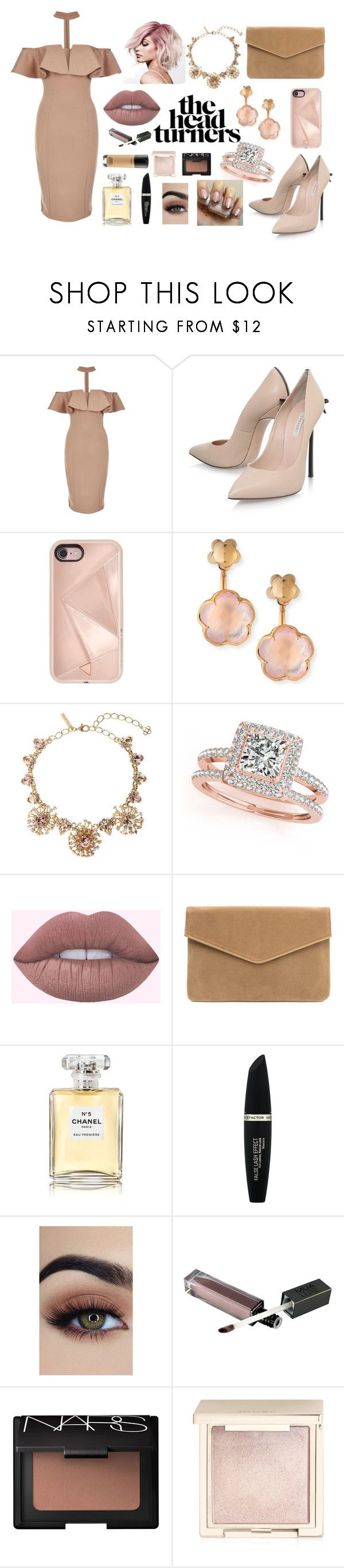 """Untitled #100"" by alexanutella on Polyvore featuring Rare London, Casadei, Rebecca Minkoff, Pasquale Bruni, Oscar de la Renta, Allurez, Chanel, Max Factor, NARS Cosmetics and Jouer"