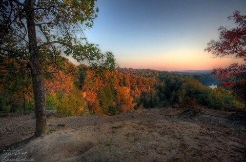 Beautiful scenery from B Rock at Camp Wyldewood in Searcy, Arkansas