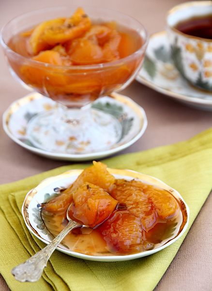 Варенье из персиков с кардамоном и тимьяном • Elaizik