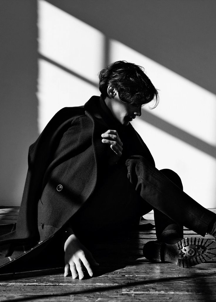 """Timur Simakov in """"The Shadow Line"""" Photographed by Johanna Nyholm and Styled by Atip W for Off Black Magazine"""