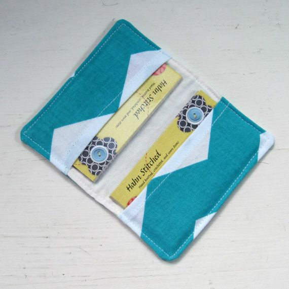 Business card holder credit card case small by HahnStitched