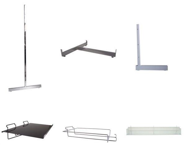 Versatile Slatwall Accessories and Shelving Solution - http://idealdisplays.ca/04_slatwall_accessories.html