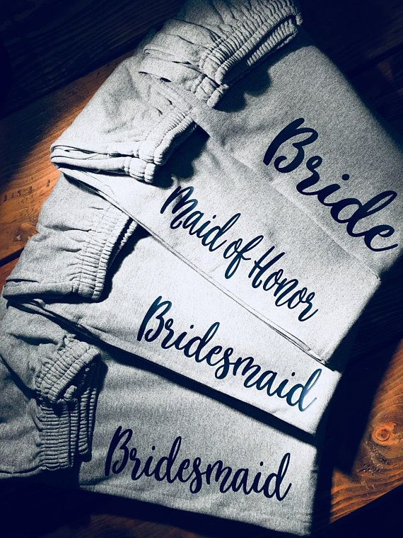 Bridal Party Personalized Sweats,Ladies lounge pant, bridal party gift idea, Bridal party gifts, MOH gift, bridesmaid gifts,Sweet 16 party – jade scott
