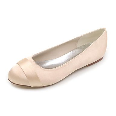 Women's+Spring+Summer+Fall+Winter+Satin+Wedding+Party+&+Evening+Flat+Heel+Black+Blue+Pink+Purple+Red+Ivory+White+Silver+–+USD+$+34.99