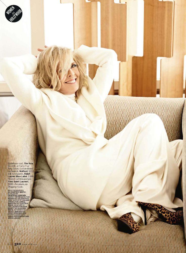 Diane Keaton for Elle - She also looks fabulous in white.: Keaton Woman, Diane Keaton Style, Beautiful Woman, Dianekeaton, Style Inspiration, Beautiful Smile, Diane Keaton Icons, Beautiful Lady, Hollywood Icons