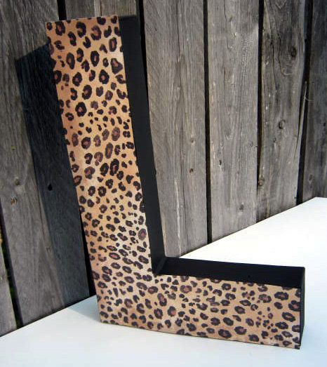 12 inch custom paper mache letter leopard by expectationcrafts 1400
