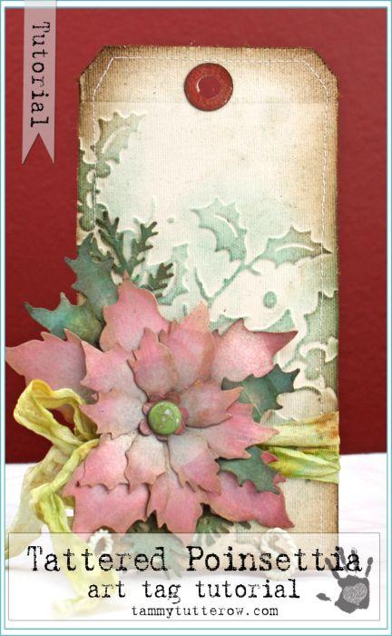 Tuesday Tutorial: Tattered Poinsettia Tag