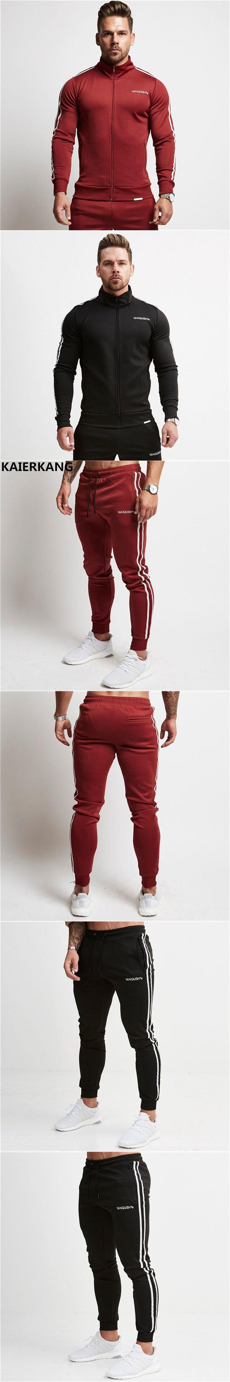 2017 Mens Joggers Male bodybuilding Casual Fashion Brand Joggers Sweatpants Bottom Snapback Pants men Casual  Pants M-2XL