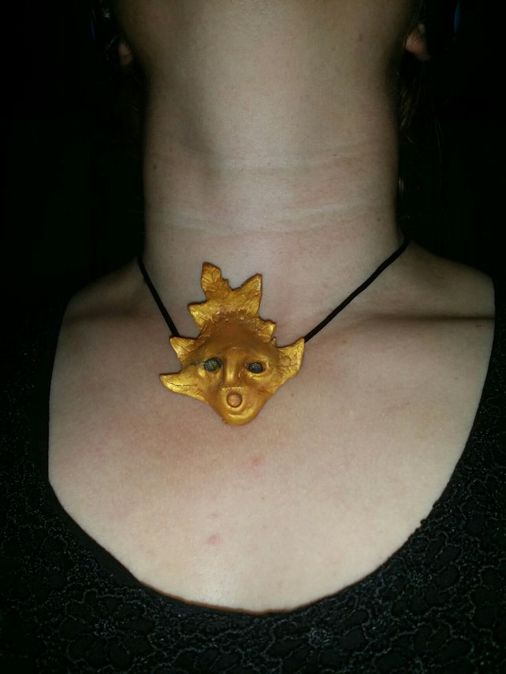 Ciondolo foglia fatata / Fairy leaf pendant by made of Cassandra