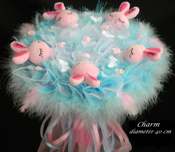 Bouquet made of toys Bouquet toysGift Bouquet READY TO by kissssss, $86.00