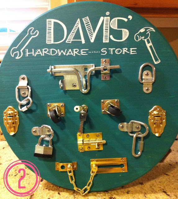 hardware board for kids - love this!