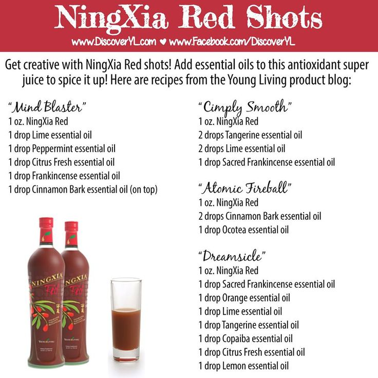 Young Living Essential Oils: NingXia Red Recipes