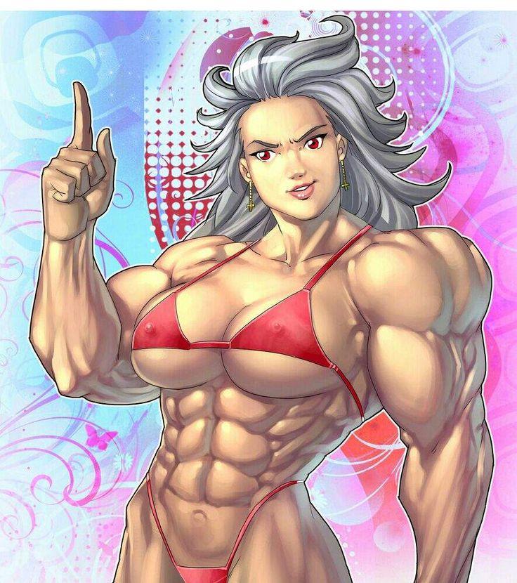 девушек рисунки мускулистых