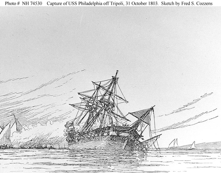 The Barbary Wars--Capture of USS Philadelphia, 31 October 1803
