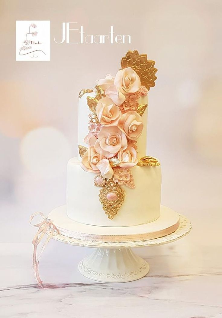Wedding Cake Pretty In Pink on Cake Central
