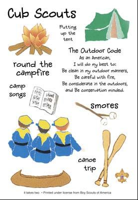 Adorable image within cub scout outdoor code printable
