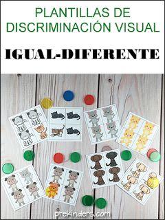 Actividades para Educación Infantil: Plantillas de discriminación visual