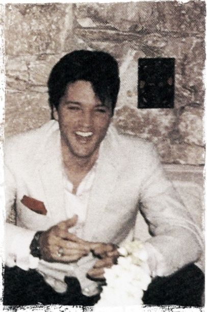 Elvis Presley on the eve of his wedding day.