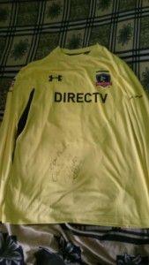 Llego Esta Camiseta De Paulo Garces Autografiada Por El
