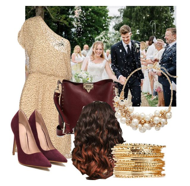 """Attending Jim and Tanya's Wedding"" by jazznicole719 ❤ liked on Polyvore featuring Alice + Olivia, Valentino and The Limited"