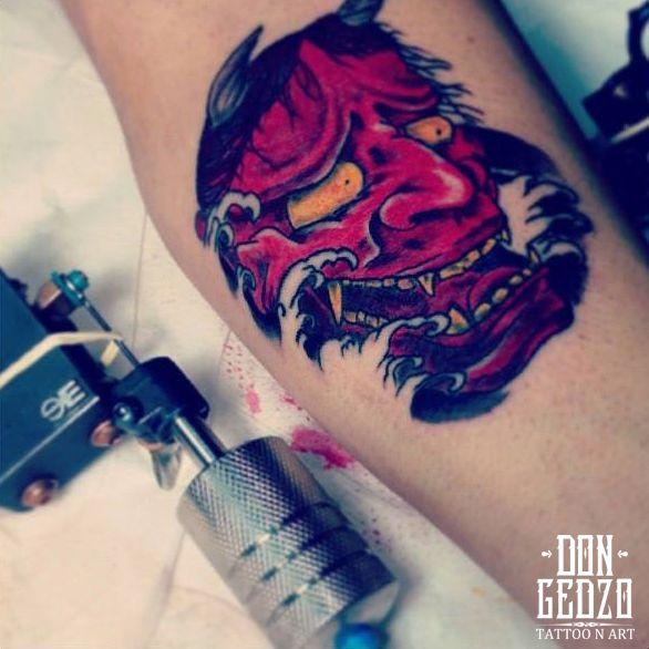 hannya japanese mask tattoo