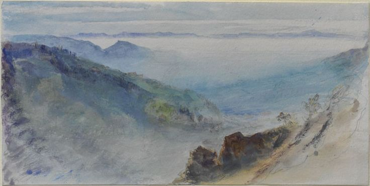 Ruskin, John - Autumnal Cloud filling the Valley of Geneva, the Jura rising out of it, seen from the Brezon above Bonneville