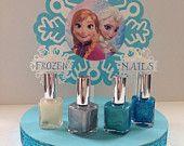Items similar to Disney Frozen Nail Polish Centerpiece - Disney Frozen party  on Etsy