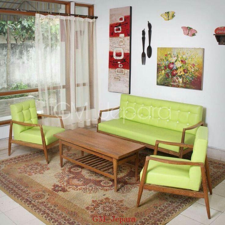 Kursi Tamu Jati Minimalis Retro, kursi tamu mewah, kursi tamu sudut, kursi tamu minimalis modern, kursi tamu sofa
