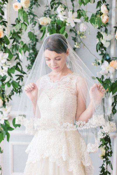 Guipure Lace Edge Wedding Veil